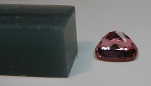 pink tourmaline and carving wax