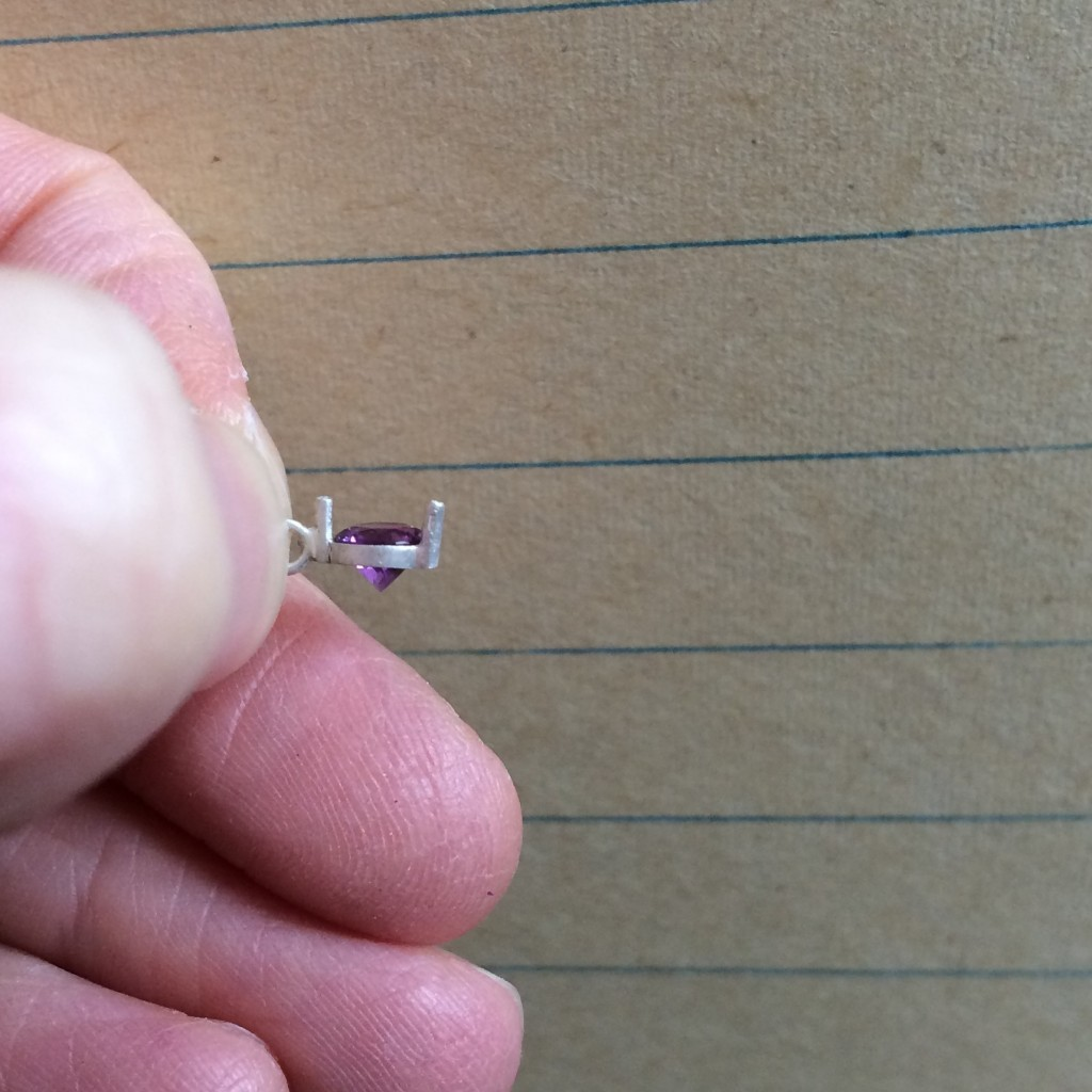 4.5 mm amethyst setting